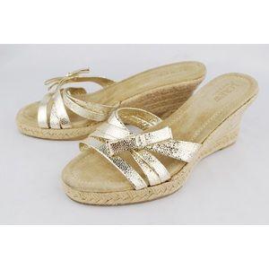 J.CREW Women's Strappy Espadrille Wedges Sandals